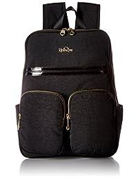 Kipling Sandra 黑色专利组合笔记本电脑背包