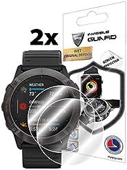 IPG 佳明 Fenix 6X / 6X Pro / 6X Pro / 6X Pro Solar / 6X Sapphire Edition 手表屏幕保护膜(2 个装)隐形超高清透明膜防刮护肤 - 光滑/自我修复/无气泡