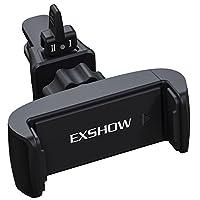 exshow 释放机理通用车载支架空调出风口带旋转头戴单手操作适用于3.5–6英寸手机和 GPS 黑色 3.4''*1.2''*2.8''