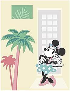 米妮老鼠棕榈树 彩色 40 x 50 cm WB050-40x50
