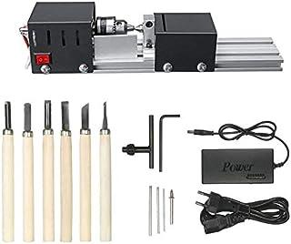 HUBEST 4000-8000 转/分钟 7 速电源精密迷你木床机迷你车床珠抛光机适用于 DIY 手工制作