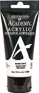 GRUMBACHER Academy 丙烯酸涂料大小:254 盎司,焦琥珀 (C024P) 75ml 混白色