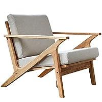 百伽 马来西亚原装进口实木单人沙发客厅家具布艺沙发北欧简约现代小户型沙发63380 单人位【亚马逊自营,供应商配送】