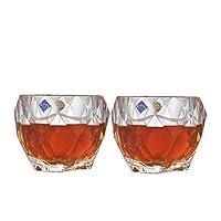 Crystalite Bohemia 波希米亚 哈瓦那系列威士忌酒杯单只装 93K60/300 水晶玻璃透明威士忌杯洋酒杯 2只价(亚马逊自营商品, 由供应商配送)