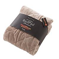 毛毯 mofua モフアプレミアムマイクロファイバー 毛毯 heatwarm 发热 + 2°C 款 グレージュ 9:敷パッド(キング)180X200