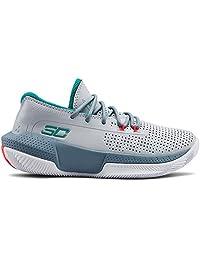 Under Armour 安德玛 中性款儿童学前SC 3ZER0 III 篮球鞋,光晕灰 (101)/浅灰色,11K