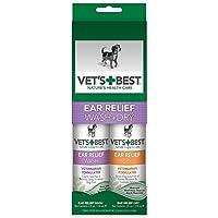 VET'S BEST 威铂 狗用洁耳套装(洁耳液118ml+护耳凝胶118ml)(进口)