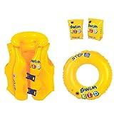 JILONG 游泳儿童套装 B schwimmler 帮助套装带充气救生衣游泳翼游泳圈游泳帮助 Kit 后 en13138带* - 空气心室适用于儿童和3 – 6岁