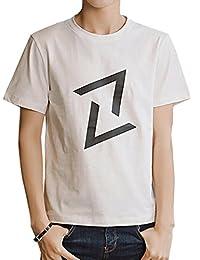 Goralon 夏季男士短袖t恤 修身圆领男生体恤打底衫韩版潮T恤男装半袖上衣汗衫印花T恤衫