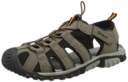 Size 9 Men's Gola Shingle Gola Taupe And Black Surf Aqua Water Toggle Sandals