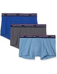 TOMMY HILFIGER 男式3件装高级必备平角短裤