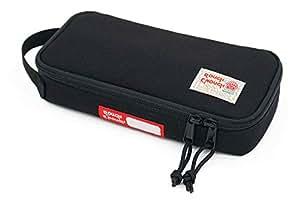 粗糙多功能 CORDURA 软聚酯便携式时尚大号铅笔盒工具袋收纳袋收纳袋收纳袋,适用于文具儿童、男孩、学生运动户外 黑色 One_Size RE8264-Black