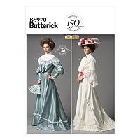 Butterick Patterns B5970 少女上装和裙子缝纫模板,尺码 B5 (8-10-12-14-16)