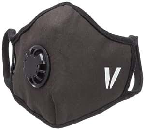 Vogmask 纤维过滤带呼吸阀和活性炭层口罩人(黑色) L