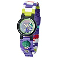 LEGO 樂高 蝙蝠俠電影 小丑 兒童人偶積木手表  紫色綠色 塑料  直徑28毫米 石英機芯 男孩女孩 官方