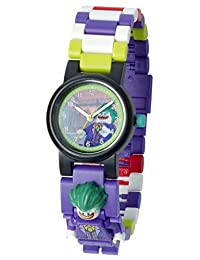 LEGO 乐高 蝙蝠侠电影 小丑 儿童人偶积木手表 |紫色绿色|塑料| 直径28毫米|石英机芯|男孩女孩|官方