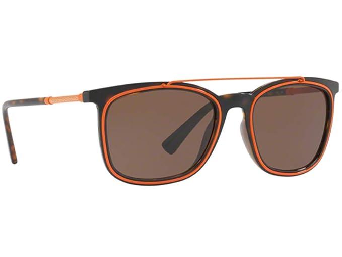 ee695c45187aa Versace VE4335 Sunglasses Havana w Brown Lens 10873 VE 4335-服饰箱包 ...