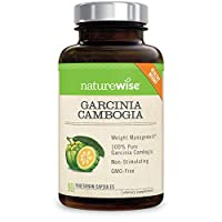 NatureWise Pure Garcinia Cambogia,100% Natural HCA Extract Supports Weight Loss and Curbs Appetite, Superior Absorption,90 count