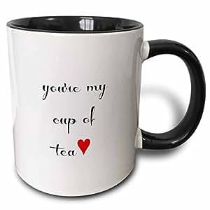 brooklynmeme 情人节–YOURE MY CUP OF 茶–马克杯 黑色/白色 11 oz