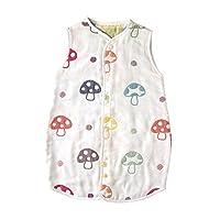 Hoppetta 6层纱布蘑菇睡袋 连衣裙样式 全覆盖防踢被 儿童尺寸5464 【Amazon.co.jp限定】