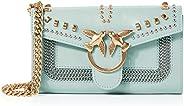 PINKO 女士 爱情 钱包 混合铆钉 C Vitell 钱包,2.5x10.8x19.2 厘米