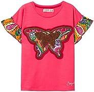 Desigual 女孩 T 恤 女孩针织短袖(Ts_Ottawa)