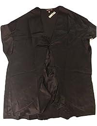 维多利亚的秘密性感黑色抹胸和服睡袍均码