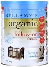 Bellamy's 贝拉米 有机婴幼儿牛奶粉2段 900g(6-12个月适用) 包邮包税【跨境自营】