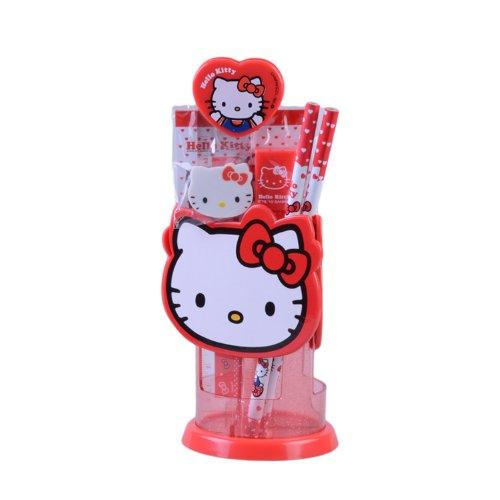 hello kitty 凯蒂猫 富乐梦 造型旋转笔筒 组合 fr-hk