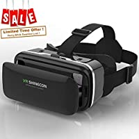 VR 耳机虚拟现实耳机 OF VR shinecon direct-lightweight 3d VR 眼镜 bring YOU immersive 虚拟现实 experience-compatible  iPhone 三星和其他4.7 – 30.48 cm 智能手机