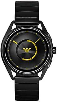 Emporio Armani 男式'Smartwatch 不锈钢镀不锈钢智能手表,颜色:黑色(型号:ART5007)