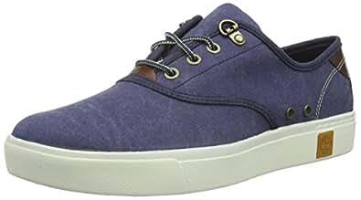 Timberland Men's Amherst Oxford Fashion Sneaker 海蓝色 8.5 D(M) US