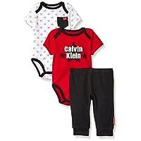 Calvin Klein 卡尔文·克莱恩 男童 短袖衣裤套装3件套