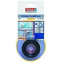 tesa 4600 极限条件自合并胶带,25mm x 3M - 透明 黑色 04600-00001-00