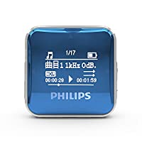 Philips 飞利浦 SA2208BL 8G MP3播放器飞利浦 背夹式MP3 蓝色