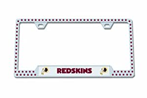 NFL Washington Redskins Bling Chrome License Plate Frame