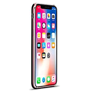 I CAN & I Will Quote ? Luxendary Chrome Series Designer 手机壳,适用于 iPhone X 玫瑰金色装饰