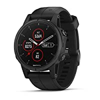 Garmin Fenix 5s Plus, Smaller-Sized Multisport GPS Smartwatch, Features Color TOPO Maps, Heart Rate Monitoring, Music and Garmin Pay, Black