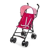 意大利 Chicco 智高 Snappy轻便婴儿推车 可折叠伞车(粉色) (适合6个月-3岁,0-15kg宝宝 防滑手柄 一键双刹 可调座椅角度 随车配防雨罩)