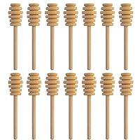 10.16 厘米木蜂蜜浸渍棒,SUMERSHA 30 包适用于蜂蜜罐分配滴蜂蜜糖 派对婚礼礼物