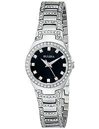 Bulova 女式 96L170 水晶手镯手表