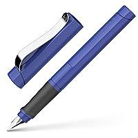 Schneider 施耐德 Base Uni钢笔,中号笔尖,蓝墨水,蓝笔杆,1支(160203)