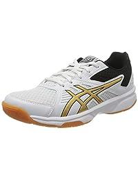 ASICS 1072a012-106_41.5 女士排球鞋,白色,38 码