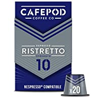 CAFEPOD Nespresso兼容 Ristretto咖啡膠囊 20個(6包-總共120個膠囊)