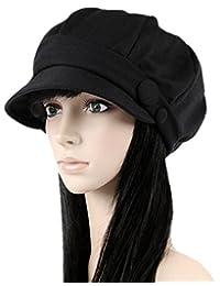 Ls 女式八角形帽贝雷帽 报员帽子 Ray Limpets 冬季帽子女式帽