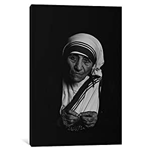 iCanvasART 7225-1PC3-18x12 Mother Teresa Photograph Canvas Print by Unknown Artist, 0.75 x 12 x 18-Inch