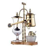 Diguo 帝国 比利时壶 比利时虹吸壶 咖啡虹吸壶 皇家比利时壶 虹吸式咖啡机, 二代款 F-2013B (金色)