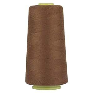 RCL * 涤纶缝纫线线轴 - 3000 码/1 线轴,40/2 件多功能连接线适用于缝纫机和手部修理工作 棕色 RCL-ST1