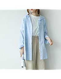 Naturhand 南禾 春夏新品 休闲学院风条纹防晒女 连帽开衫 背后卡通长袖上衣 均码 3色可选