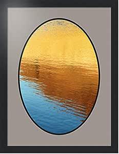 ArtToFrames 拼贴照片框双垫,带 1 个开口和黑色缎框。 Tv 灰色 14x20 Double-Multimat-1493-88/89-FRBW26079